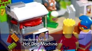 Lego Tutorial - Building The Hot Dog Machine From The Kwik-e-mart In The Simpsons