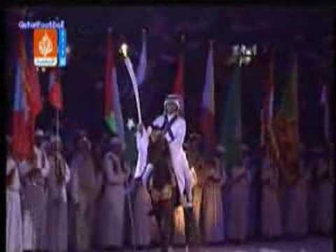 AMAZING - Doha 2006 Games - lighting the Torch