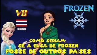 Como seriam: Se a Elsa de Frozen Fosse de Outros Países