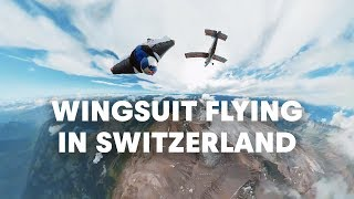 Wingsuit Flying in Switzerland's Vaud Alps with the Red Bull Air Force