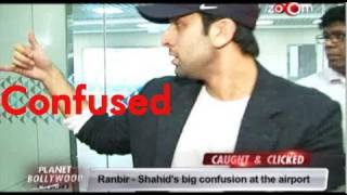 Ranbir Kapoor,Shahid kapoor and Zoya caught in media frenzy at the airport