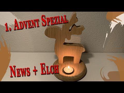 1. Advent Spezial Elch Deko Projekt | Let´s do it - NEWS #20