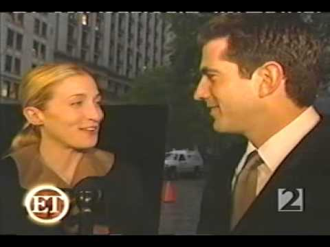 Carolyn Bessette-Kennedy and John F. Kennedy Jr. attend the Newman's Own/George Awards