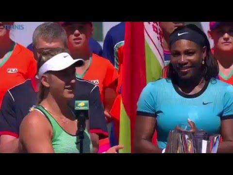 Victoria Azarenka 2016 BNP Paribas Open Final Speech