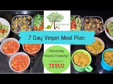 7 DAY VEGAN MEAL PLAN | Slimming World Friendly | Tesco Shop £35
