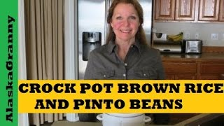 Crockpot Brown Rice And Pinto Beans