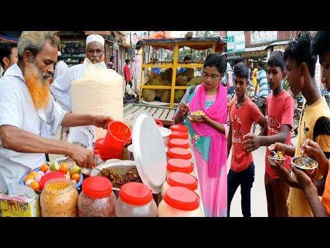 Yummy masala muri & Chanachur recipe Best Spicy mix chole muri chanachur Makha Special Street food