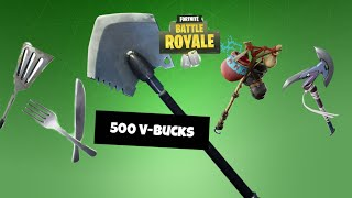 ALL PIOCHES AT 500 V-BUCKS ON FORTNITE!!