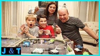 Robot Battle Kids Vs Parents / Jake and Ty