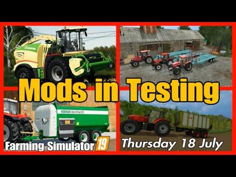 Giants Mods in Testing list fs19 mods in testing farming simulator
