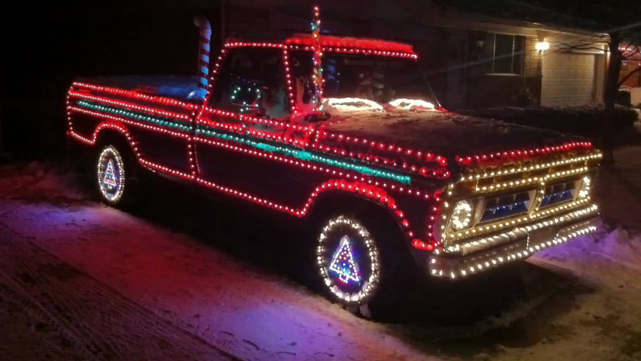 Old Pickup Lights : Christmas lights on ford pick up youtube