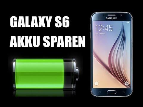 Samsung Galaxy S6 Akku sparen Einstellungen