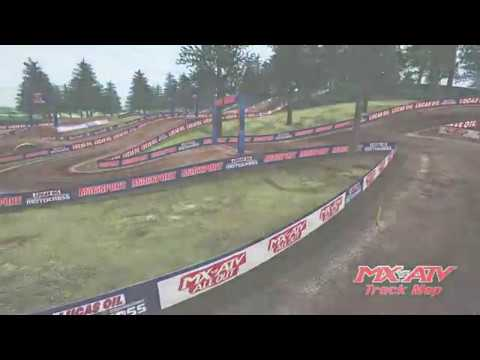 2018 Washougal Motocross animated track map