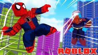 SUPERHERO BATTLE SPIDERMAN VS SUPERMAN - Sharky Gaming   Roblox