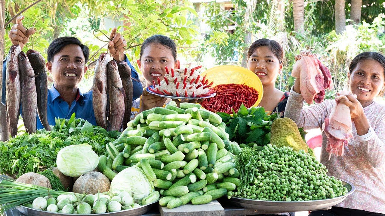 Prahok Khtis: Fermented Fish Paste with Coconut Milk  Pea Eggplant - Traditional Cooking & Donation