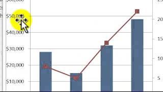 Diagramme aus Excel 2010 - erstellen Sie eine Trendlinie