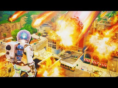 "NEW ""Meteor Strike"" Hitting ""Tilted Towers"" RIGHT NOW! - Fortnite Battle Royale LIVE PS4 Gameplay"