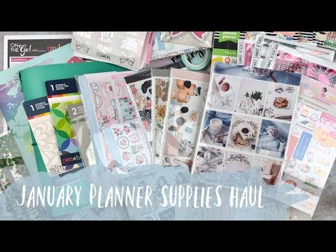 JANUARY PLANNER SUPPLIES HAUL | ft. scribble prints co, sadie's stickers, & more!