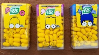 The Simpsons Tic Tacs Taste Test Review.