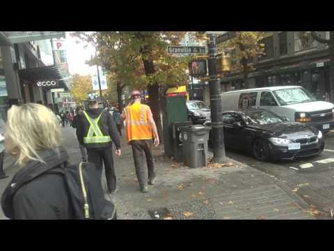 Walking around Georgia Street & Granville Street - Downtown Vancouver, BC