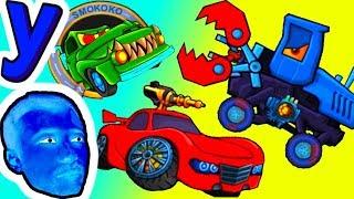 ПРоХоДиМеЦ и Красная МАШИНКА Спасаются от ХИЩНИКОВ! #440 ИГРА для ДЕТЕЙ - Хищные Машинки 3
