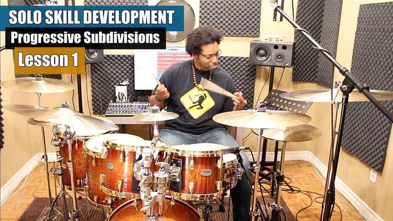 Download Drum Solo Skill Development - Lesson #1   Progressive Subdivision Series