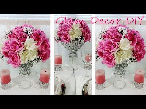 Dollar Tree DIY Glam Bling Vase Glam Wedding Centerpiece Ideas