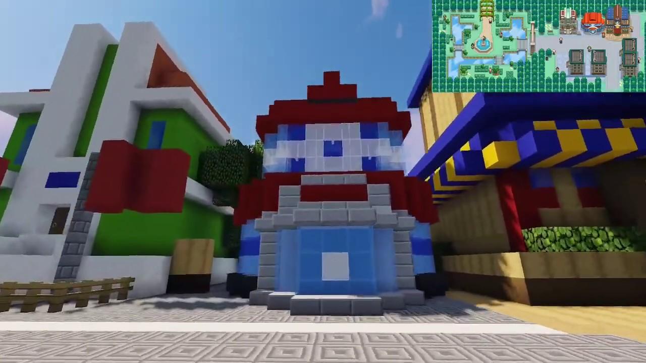 Pokemon Black & White Striaton City In Minecraft
