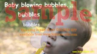 BABY BLOWING BUBBLES song by Kids Can Talk - simple songs for children