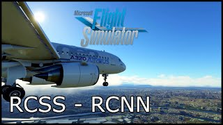 Microsoft Flight Simulator - Songshan (RCSS) to Tainan (RCNN) - A320neo - Full Flight