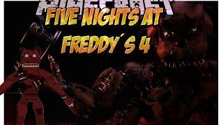 EL MEJOR MOD DE Five Nights At Freddy´s 4 (FNAF 4 en Minecraft) Español Minecraft 1.7.10