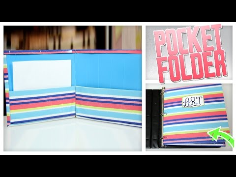 DIY Folder Made From Cereal Boxes!