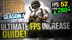 ? PUBG: SEASON 4 UPDATE! Dramatically increase FPS / Performance with any setup! PUBG FPS 2019