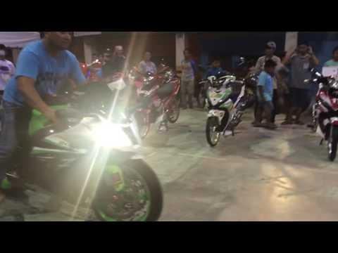 Kawasaki ZX-10R 1000CC Burn Out @Balamban Cebu Philippines Motor Show