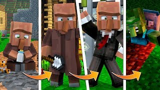 MINECRAFT LIFE CYCLE: VILLAGERS | Realistic Villagers Lifespan? (Birth to Death)