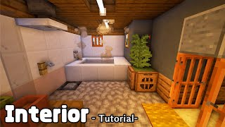 【マインクラフト】モダンな家の内装の作り方 Part.2  (プロの裏技建築)
