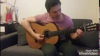 Восточный танец - В.Козлов, часть 1. Разбор, урок на гитаре.