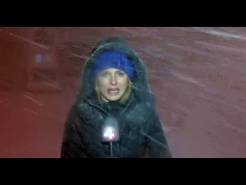 Heavy snow strands reporter in western New York