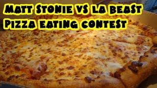 Matt Stonie vs LA Beast - Dominos Med Pizza