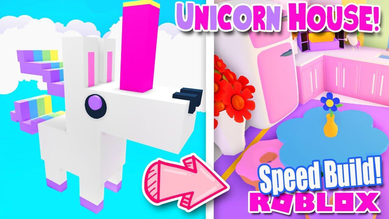 *UNICORN* DREAM HOME 🦄 SPEED BUILD ADOPT ME ROBLOX Glitch Build