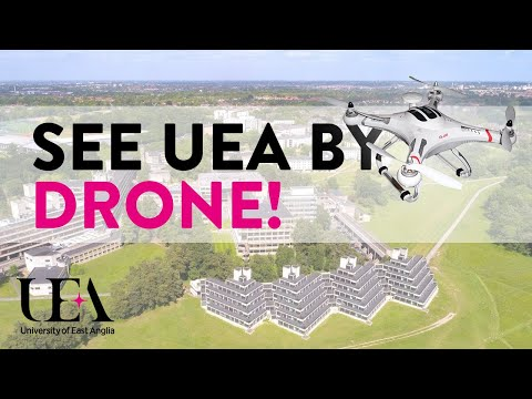 UEA from the Sky - Aerial Drone Campus Tour | University of East Anglia (UEA)