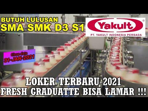 BANYAK POSISI GUYS! LOKER PT YAKULT INDONESIA PERSADA 2021