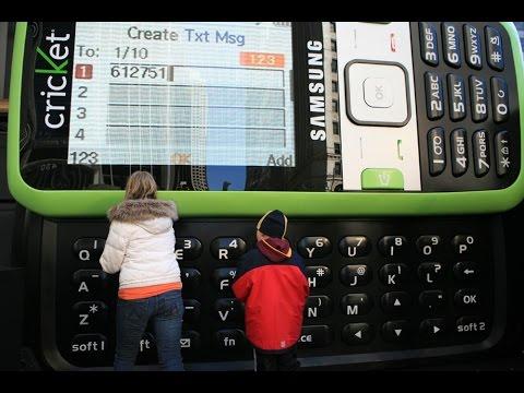 Рекорд Гиннеса.Самый большой мобильный телефон в мире