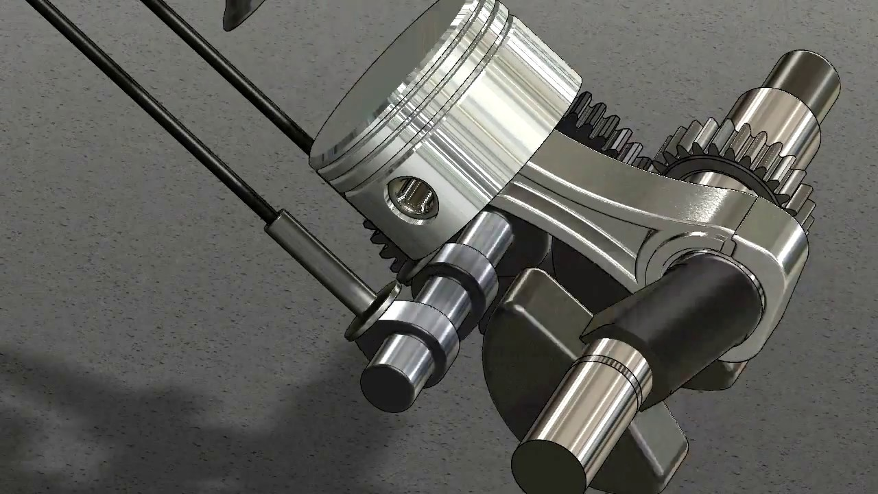 Four Stroke Engine Cycle - Solidworks Animation - YouTube