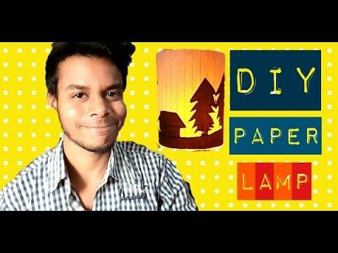 DIY CREATIVE PAPER LAMP | HOME DECOR | CRAFTRAHUL ENGINNE