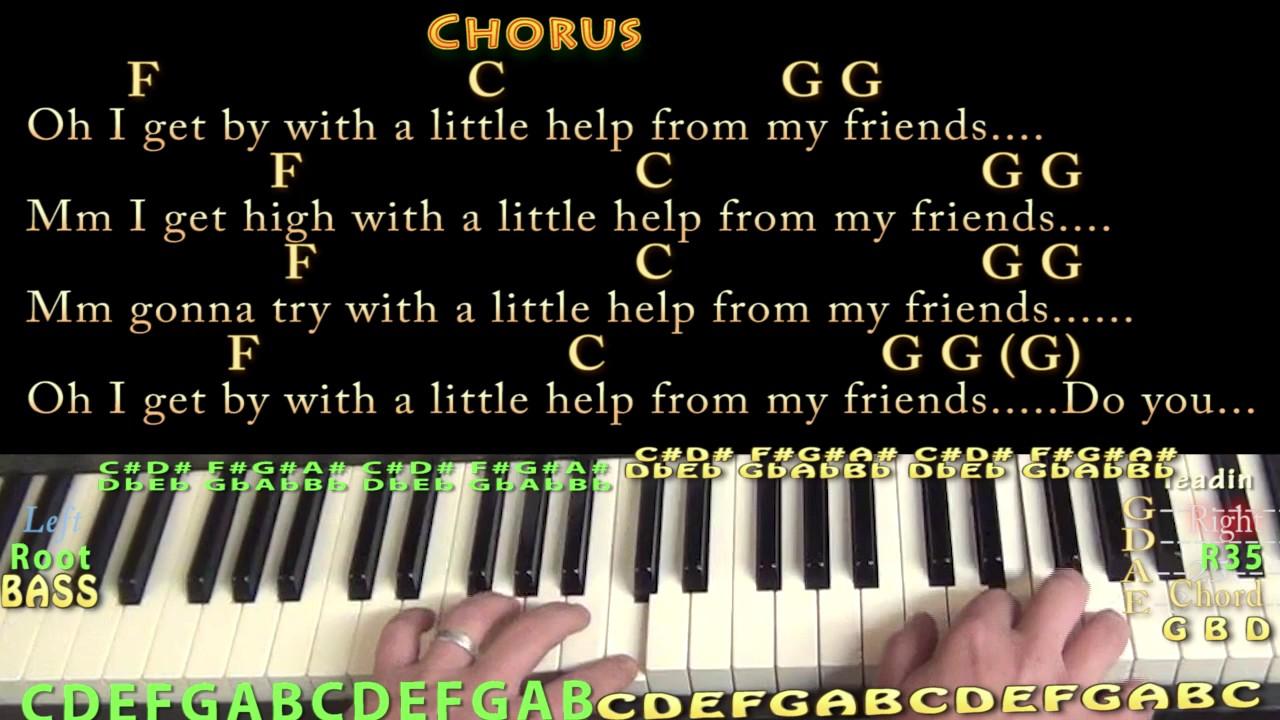 With a little help from my friends joe cocker piano cover lesson with a little help from my friends joe cocker piano cover lesson in g with chordslyrics hexwebz Choice Image