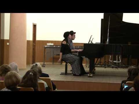 E. Satie - La Belle Excentrique, piano 4 mains, S.Korepanov, M.Obolenskaya