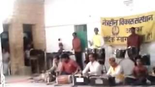 musical groups play group imstrumantel song mere desh ki dharti by blind students from n.v.s. jodhpu