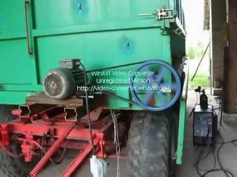 W Mega Przyczepa HL 8011 rozładunek zboża - YouTube SS34