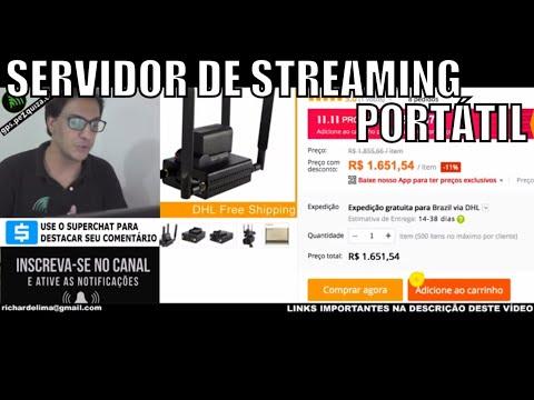 SERVIDOR DE IPTV / STREAMING PORTÁTIL INTERNET WIFI E 4G